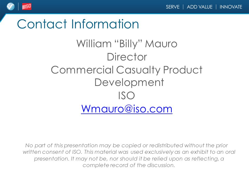 Commercial Casualty Product Development