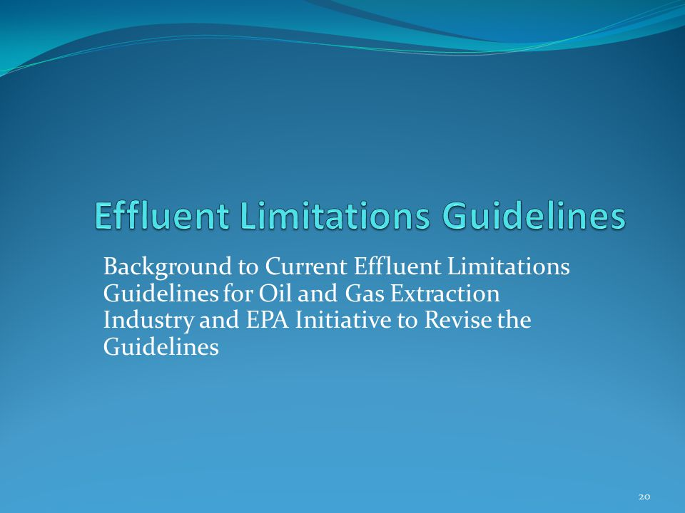 Effluent Limitations Guidelines