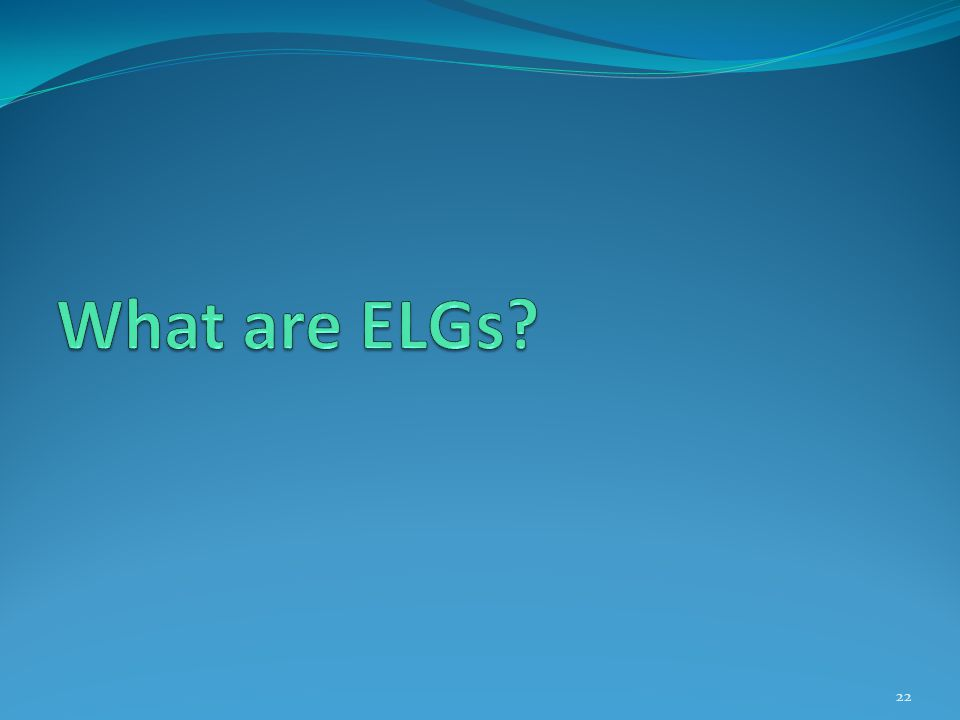What are ELGs