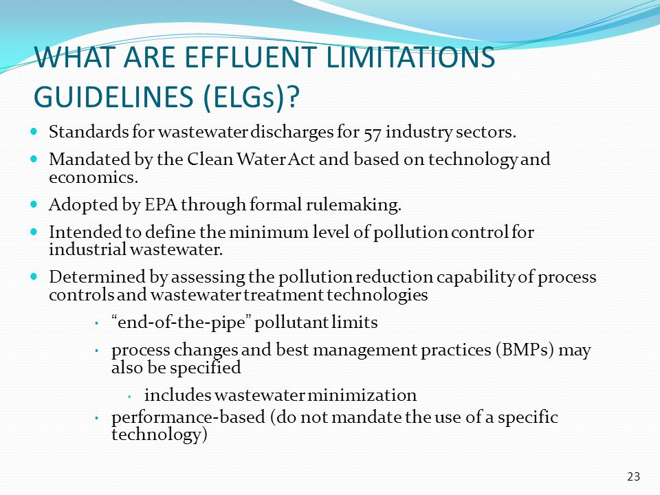 What are Effluent Limitations Guidelines (ELGs)