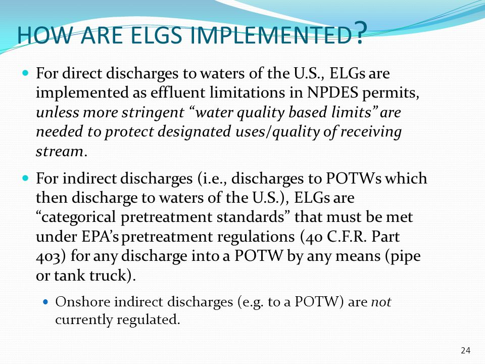 HOW ARE ELGS IMPLEMENTED