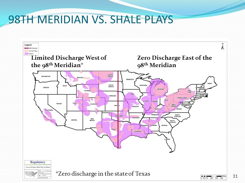 98th Meridian vs. Shale Plays