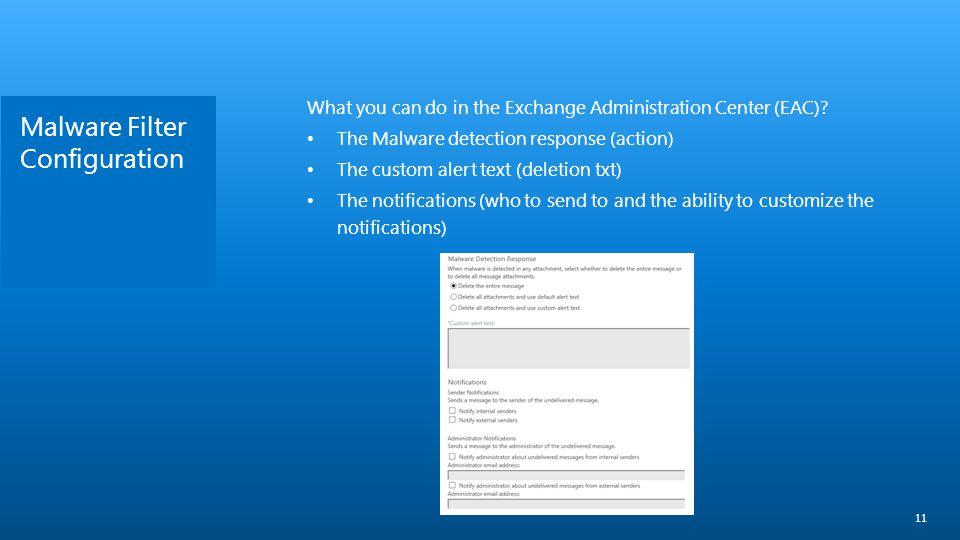 Malware Filter Configuration