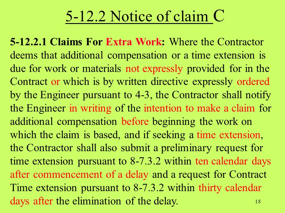 5-12.2 Notice of claim C