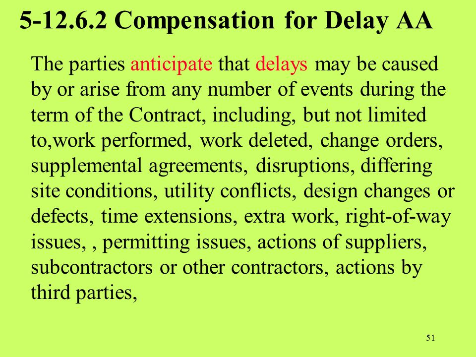 5-12.6.2 Compensation for Delay AA
