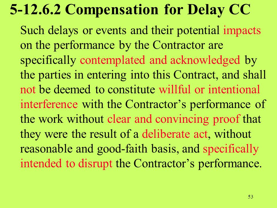 5-12.6.2 Compensation for Delay CC