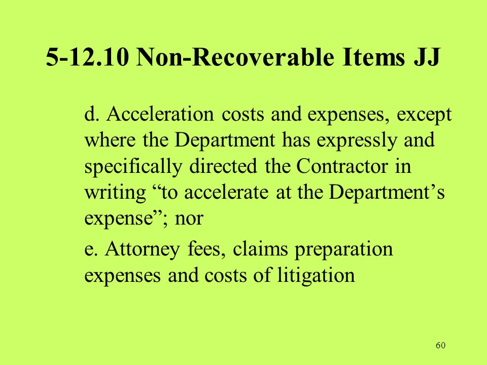 5-12.10 Non-Recoverable Items JJ