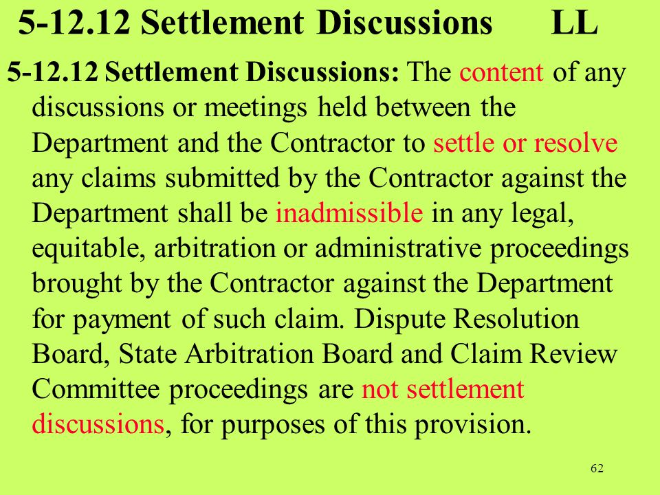 5-12.12 Settlement Discussions LL