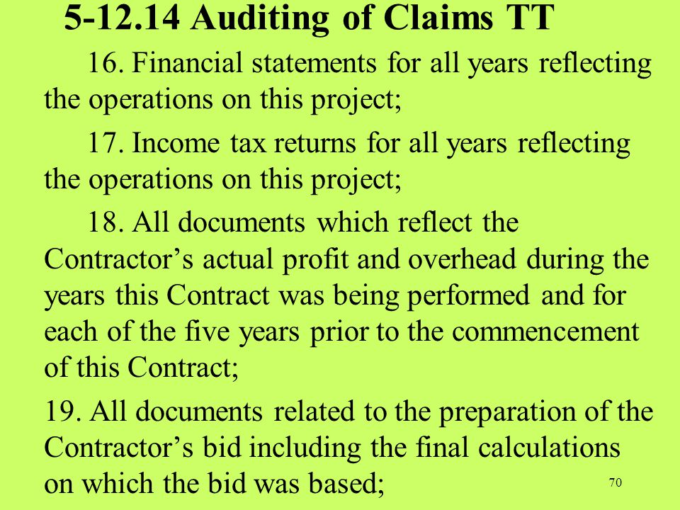 5-12.14 Auditing of Claims TT