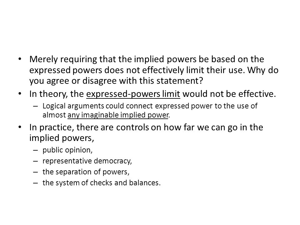In theory, the expressed-powers limit would not be effective.
