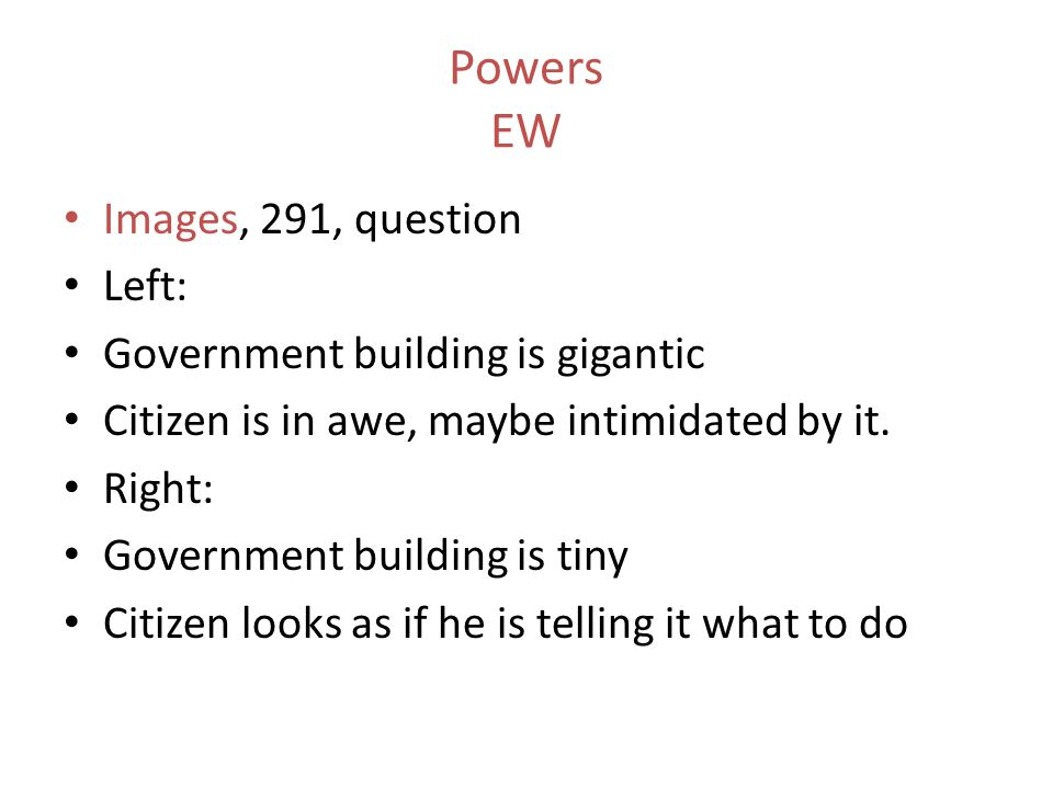 Powers EW Images, 291, question Left: Government building is gigantic