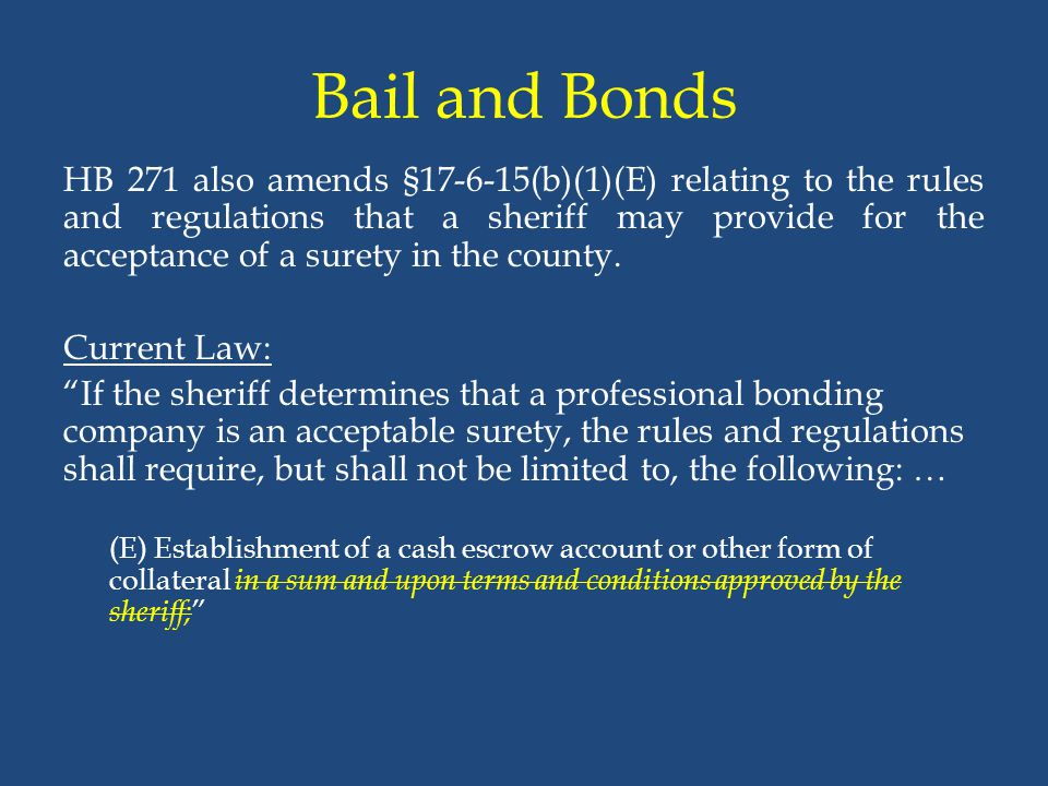 Bail and Bonds