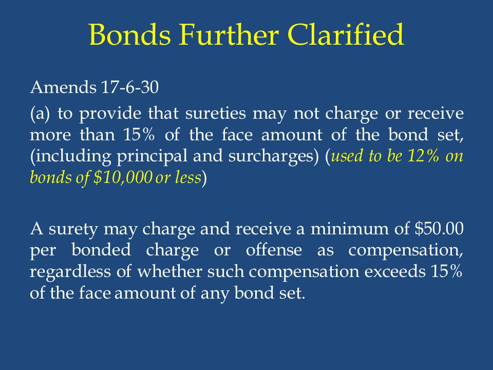 Bonds Further Clarified