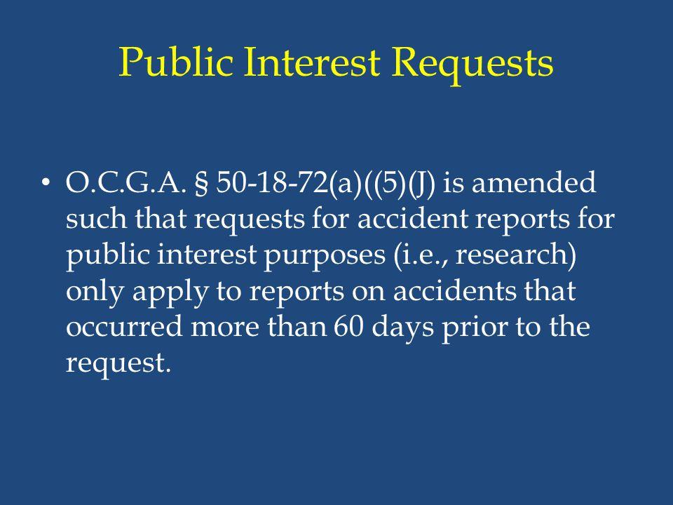 Public Interest Requests