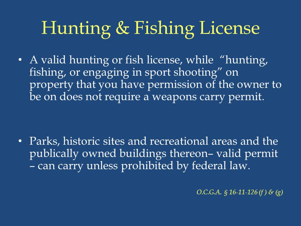 Hunting & Fishing License