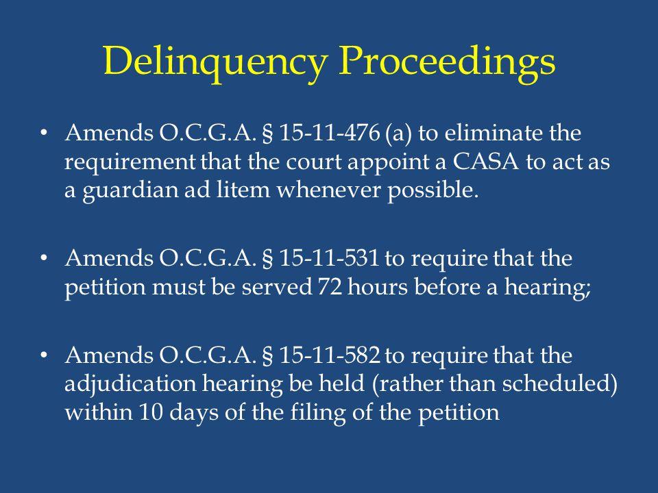 Delinquency Proceedings