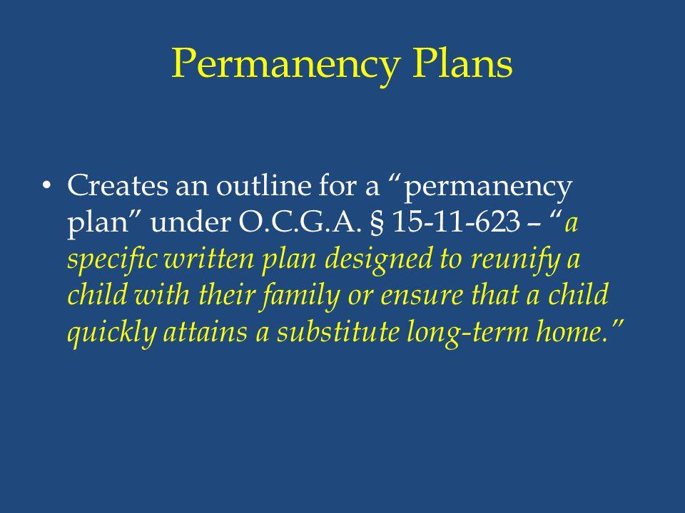 Permanency Plans