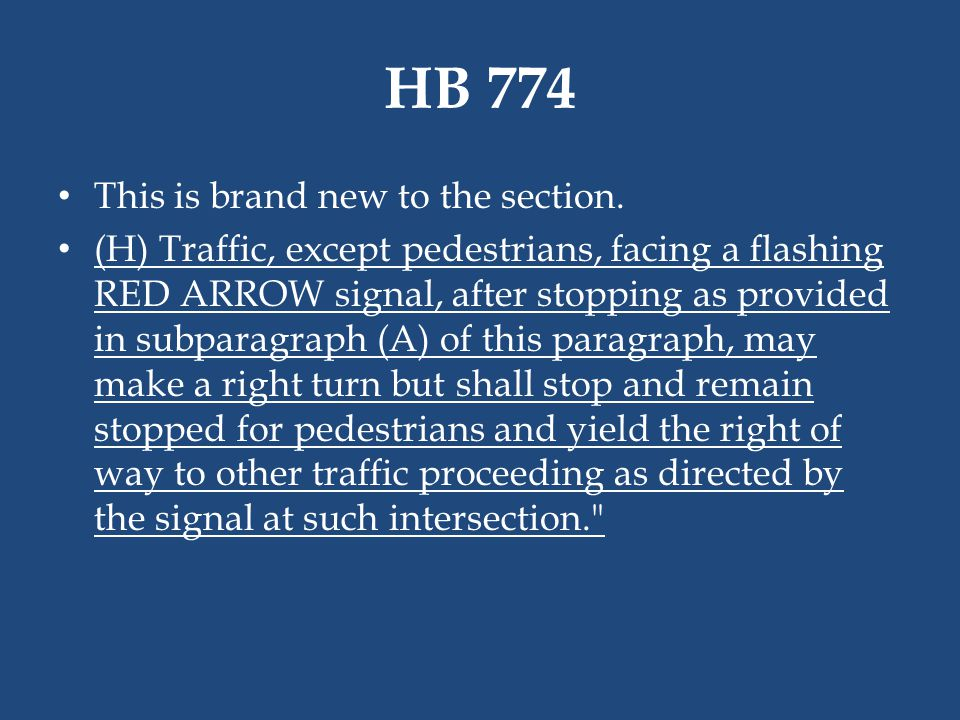 HB 774 This is brand new to the section.
