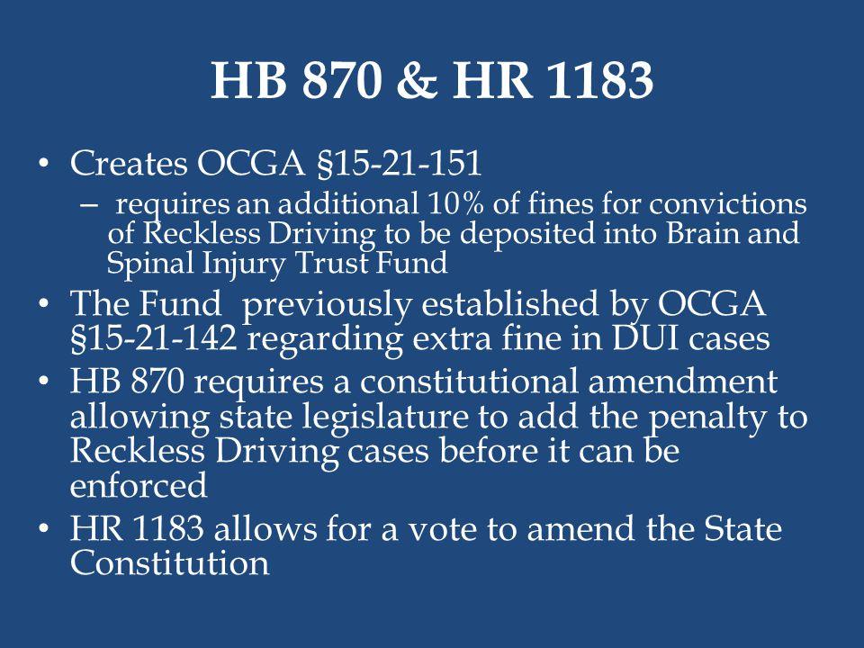 HB 870 & HR 1183 Creates OCGA §15-21-151.