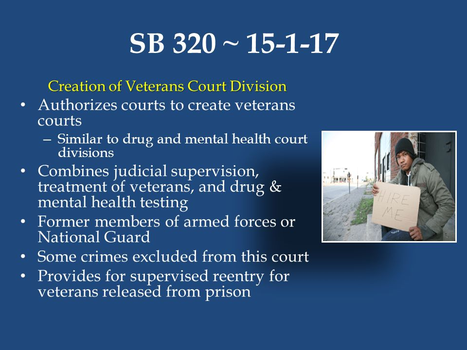 Creation of Veterans Court Division