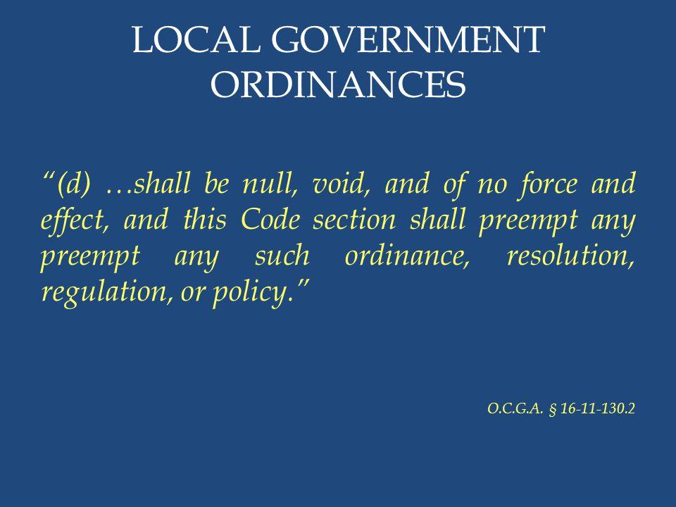 LOCAL GOVERNMENT ORDINANCES
