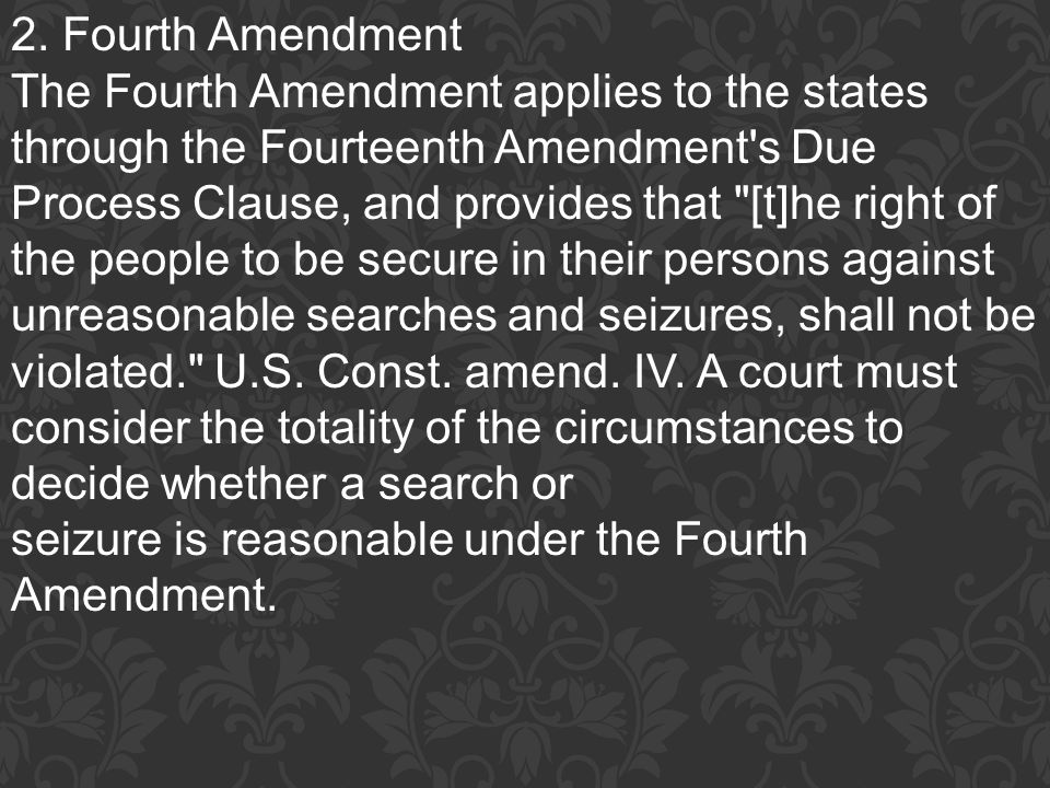 2. Fourth Amendment