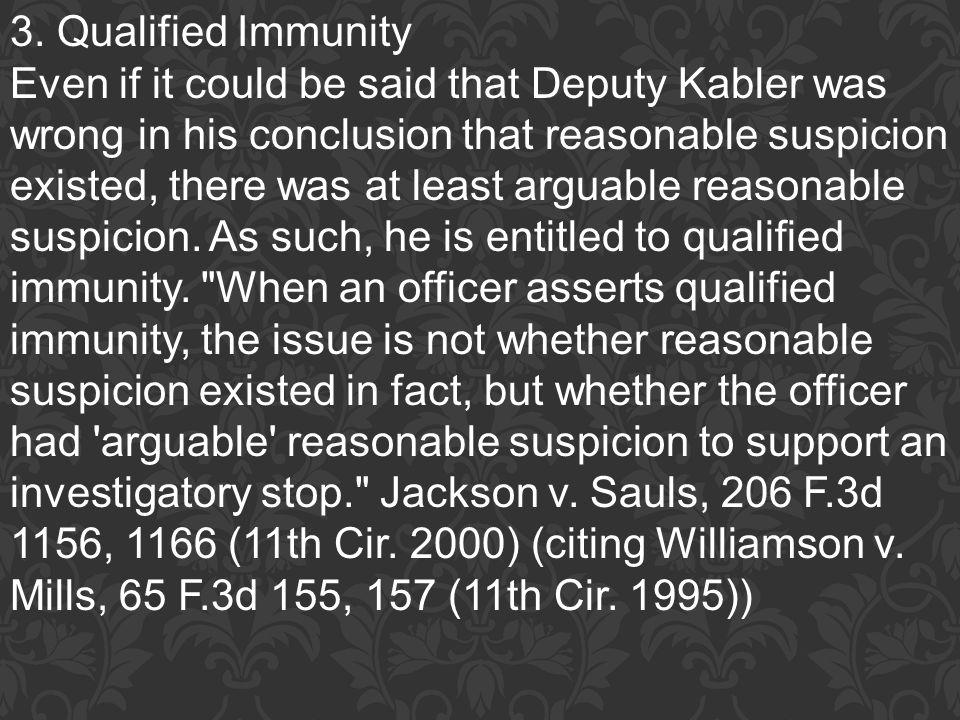 3. Qualified Immunity