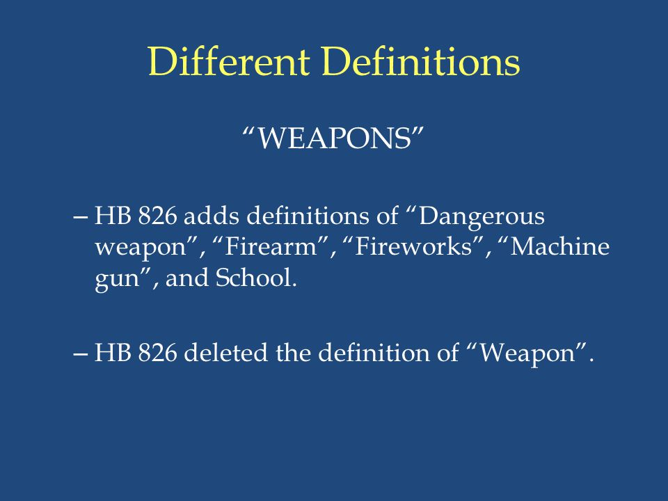 Different Definitions