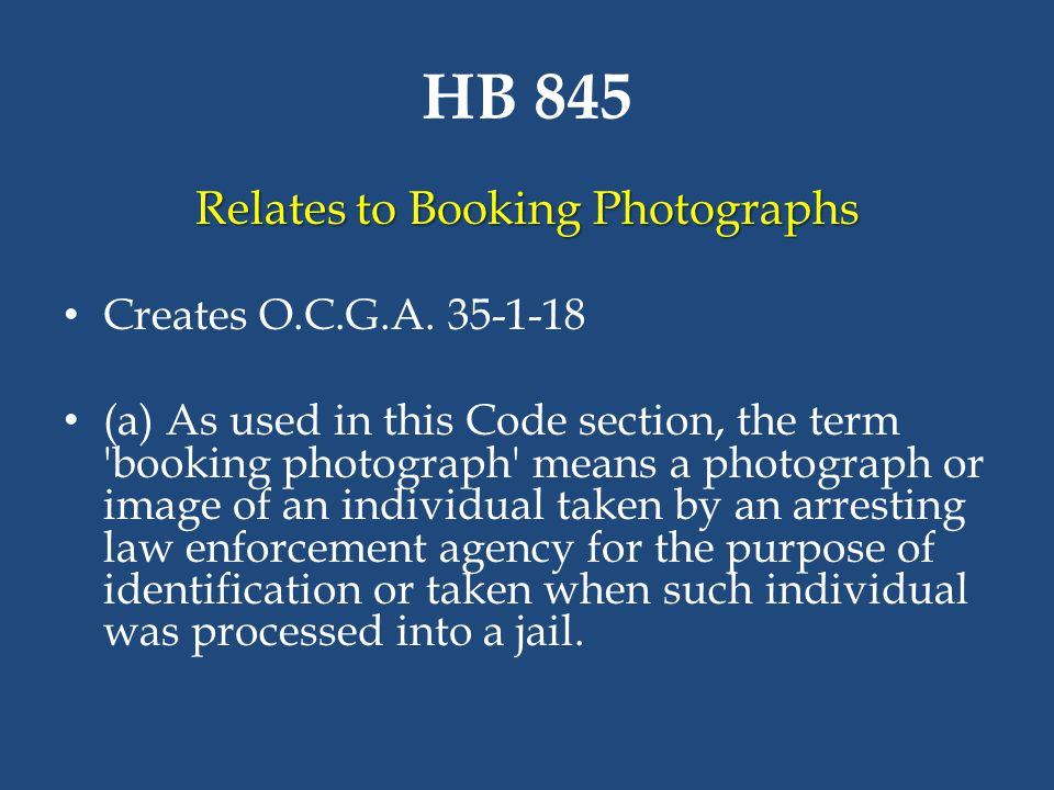 Relates to Booking Photographs