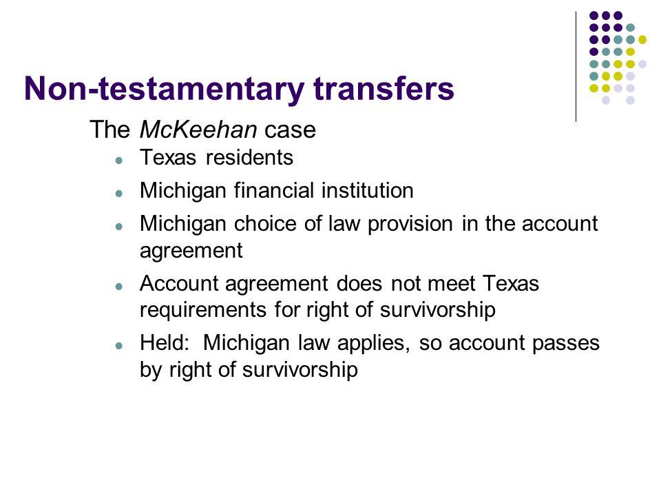 Non-testamentary transfers
