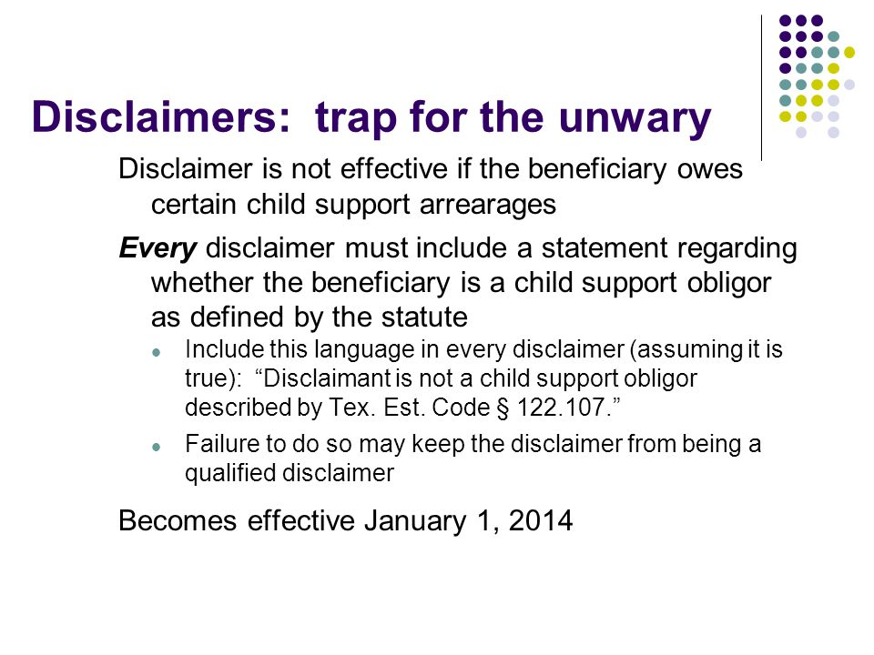 Disclaimers: trap for the unwary