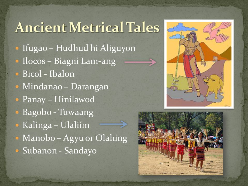 Ancient Metrical Tales
