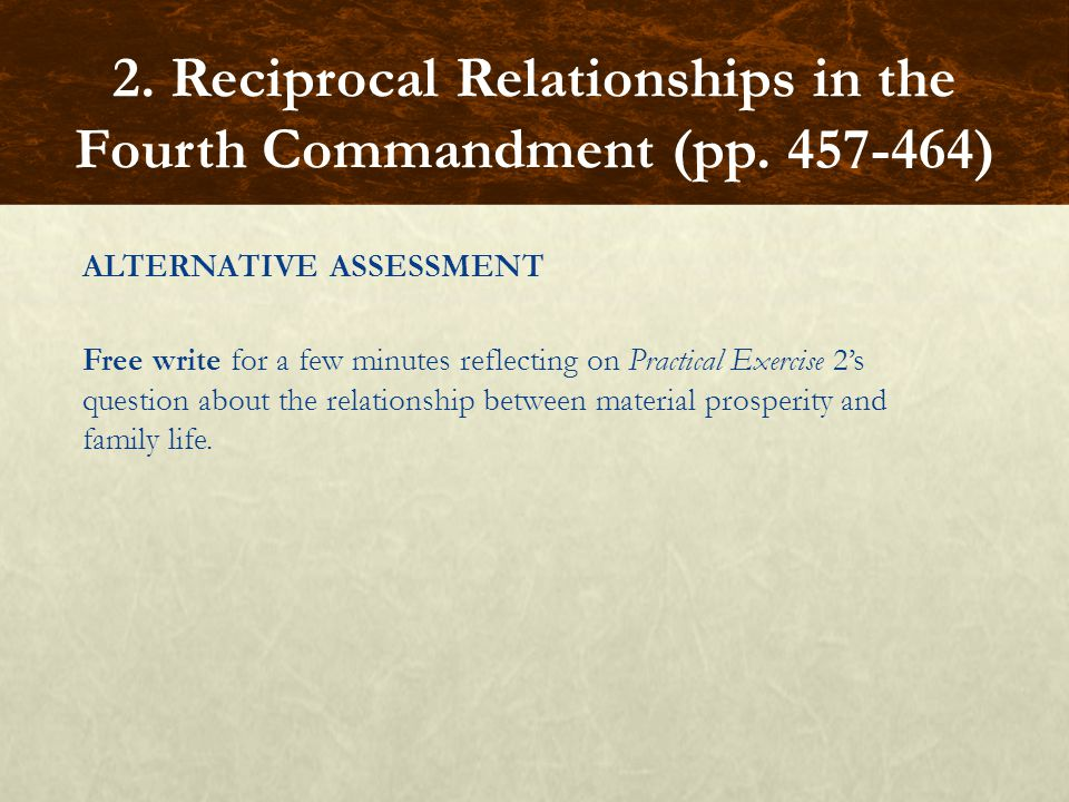 2. Reciprocal Relationships in the Fourth Commandment (pp. 457-464)