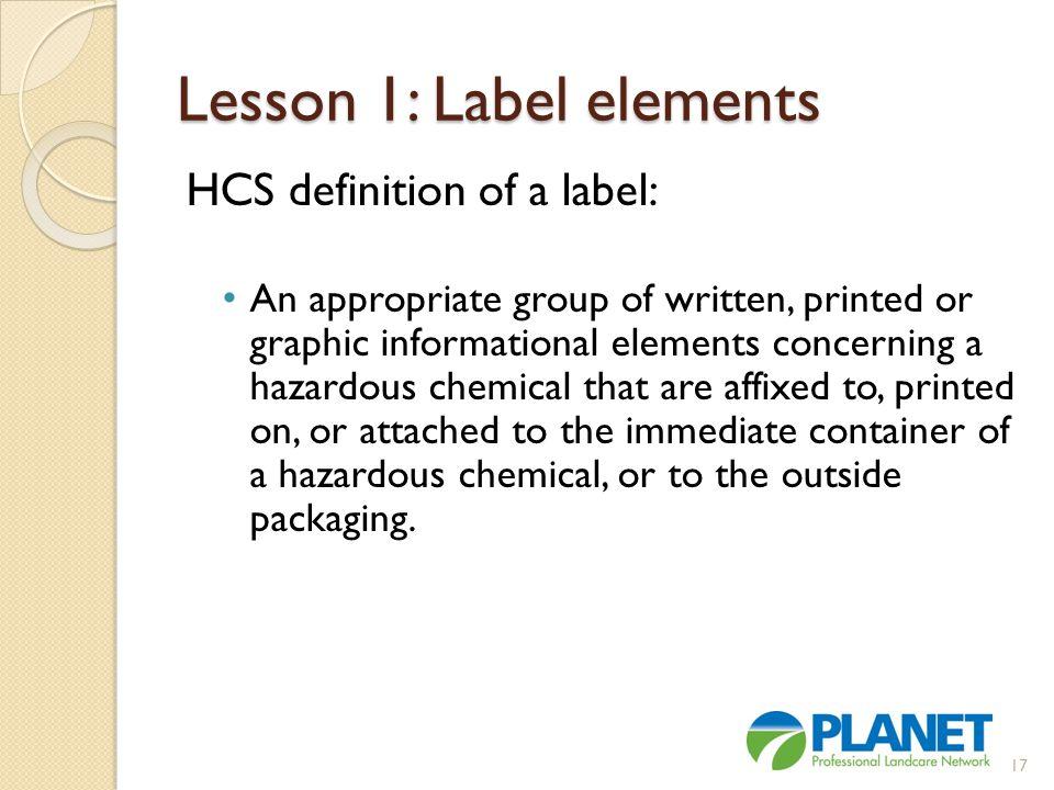 Lesson 1: Label elements