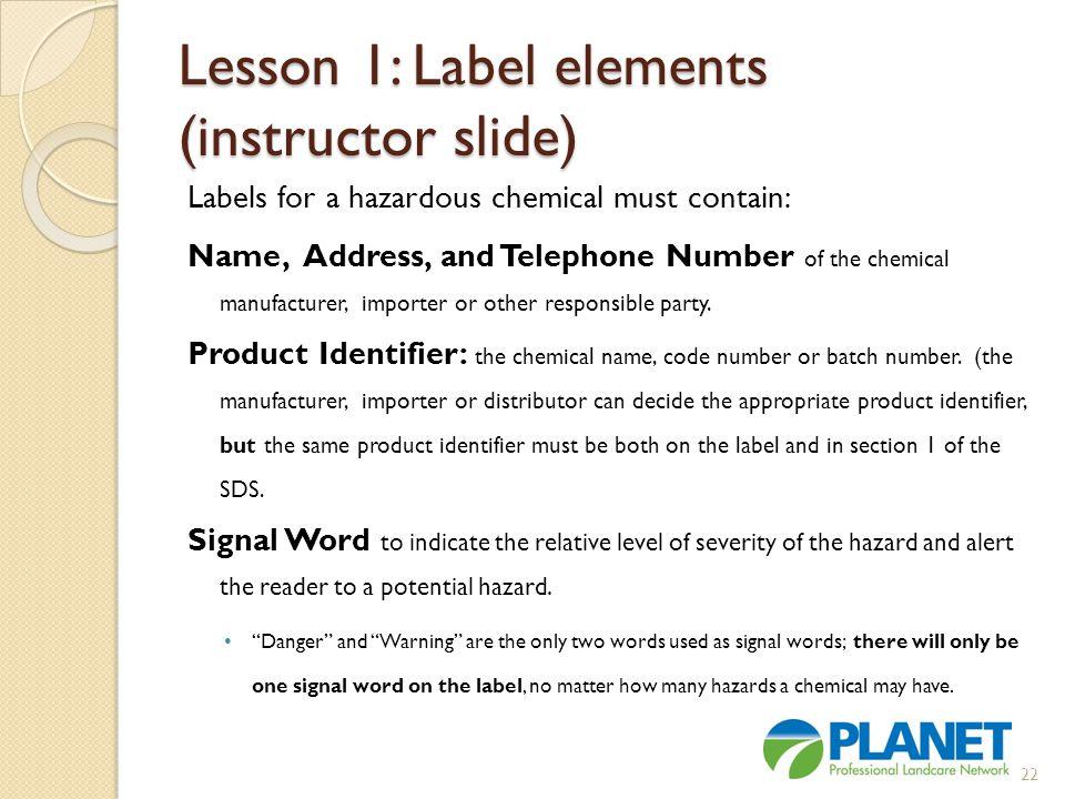 Lesson 1: Label elements (instructor slide)