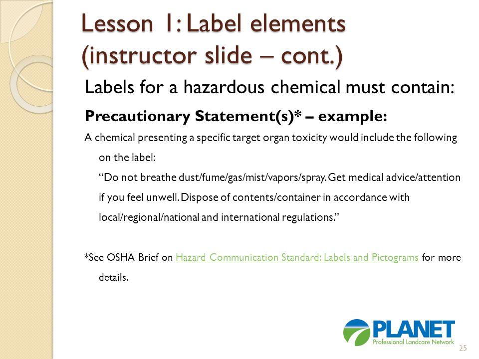 Lesson 1: Label elements (instructor slide – cont.)