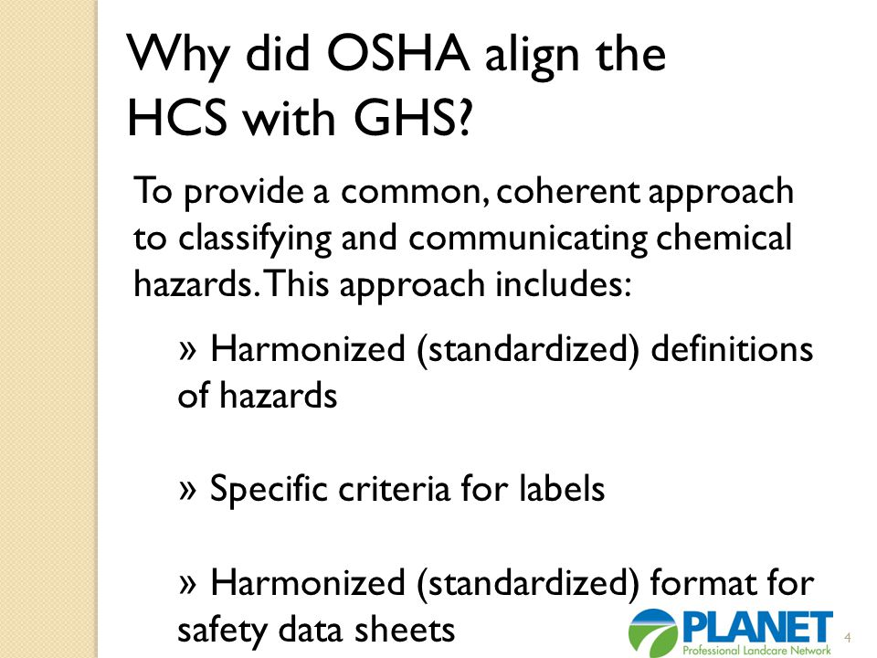 Why did OSHA align the HCS with GHS