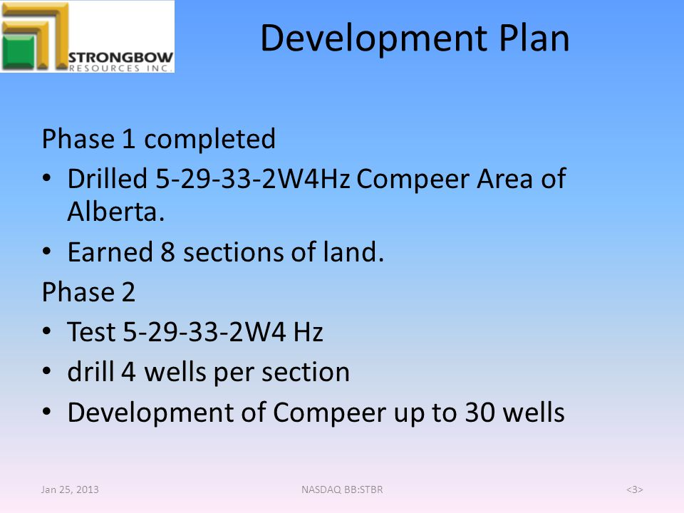 Development Plan Phase 1 completed