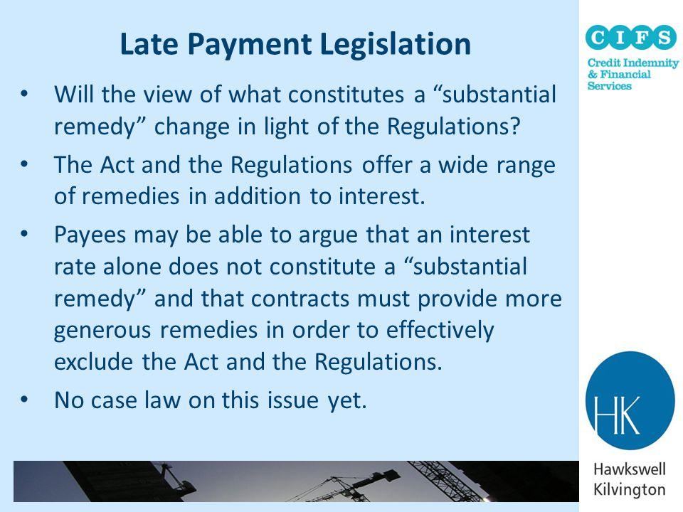 Late Payment Legislation