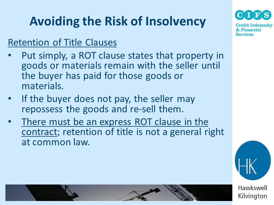 Avoiding the Risk of Insolvency