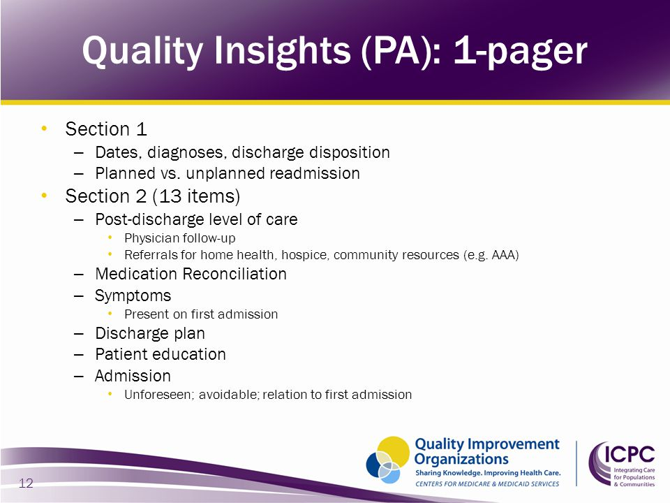 Quality Insights (PA): 1-pager