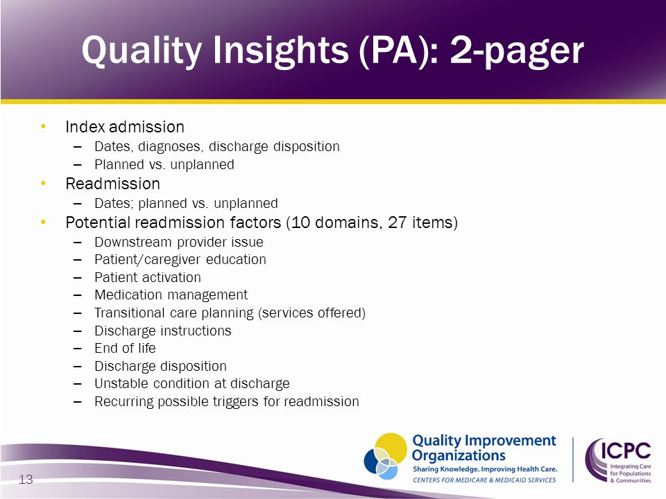 Quality Insights (PA): 2-pager