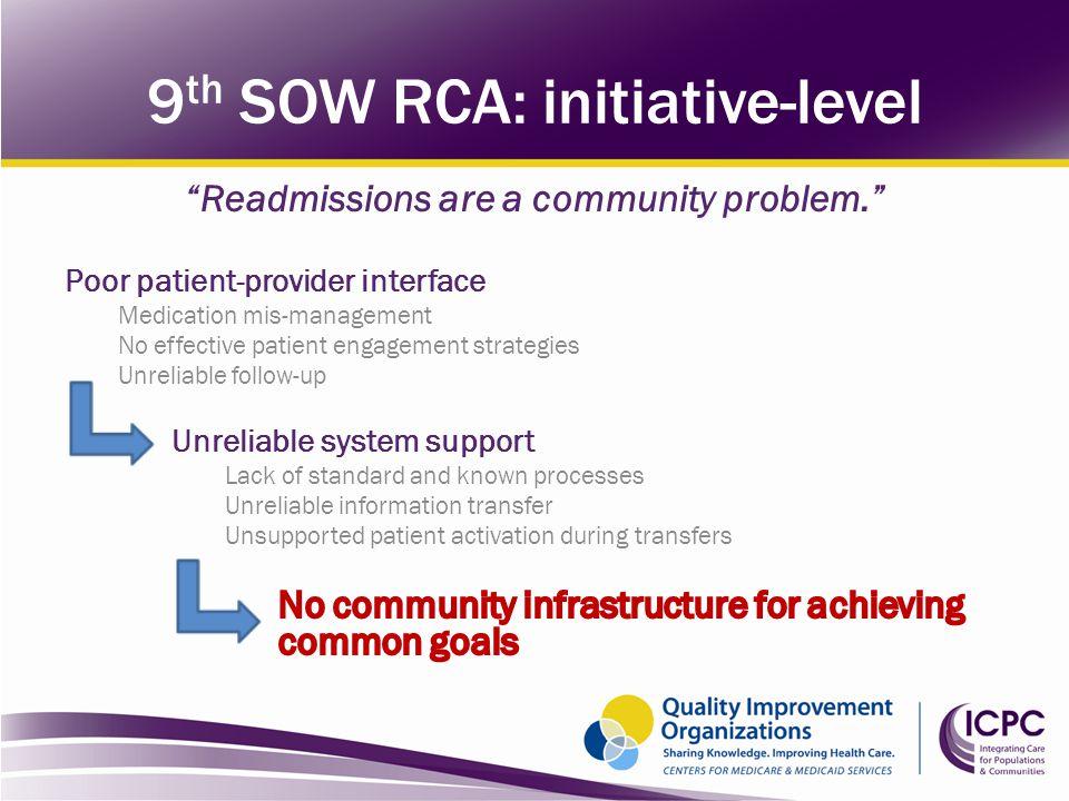 9th SOW RCA: initiative-level