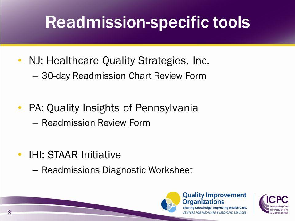 Readmission-specific tools