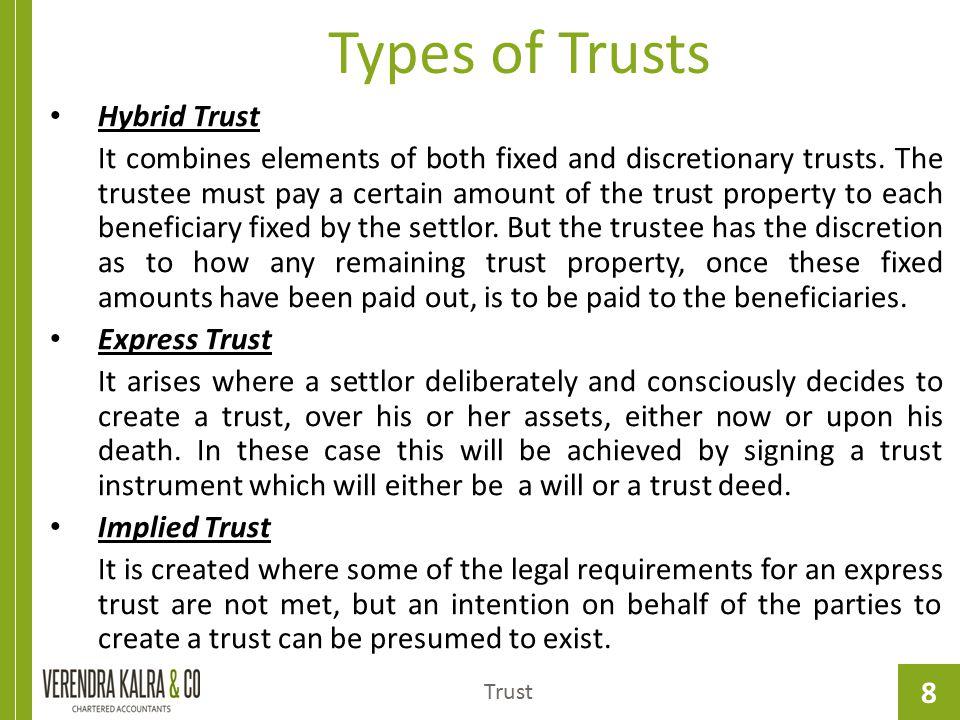 Types of Trusts Hybrid Trust