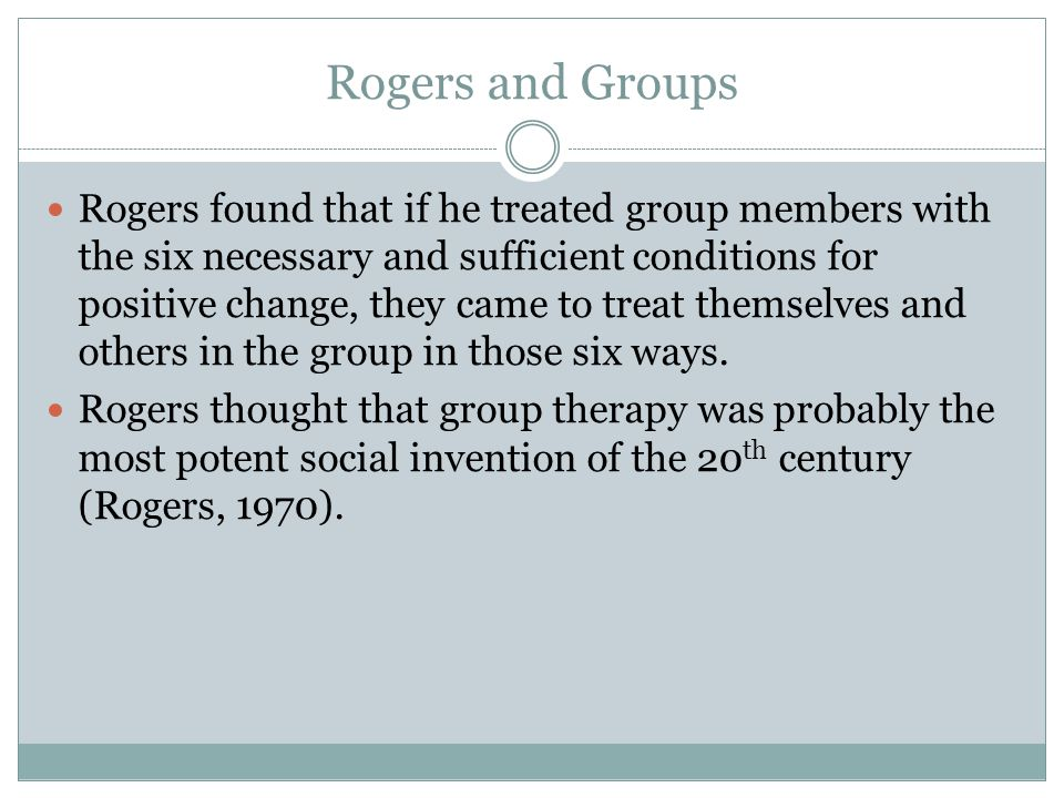 Rogers and Groups