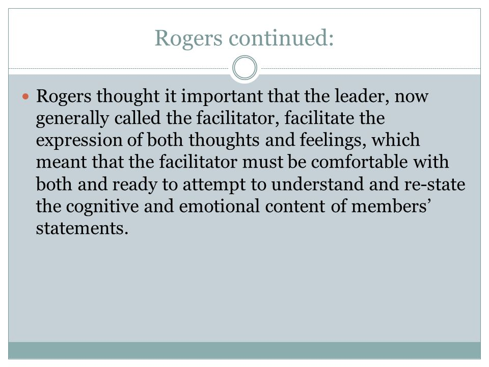 Rogers continued: