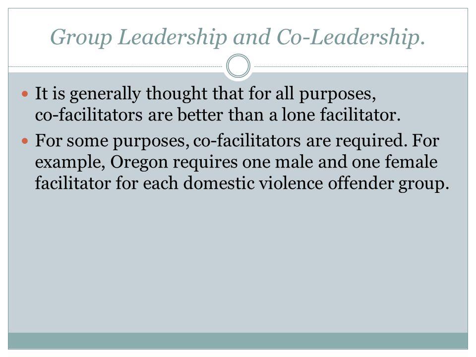 Group Leadership and Co-Leadership.