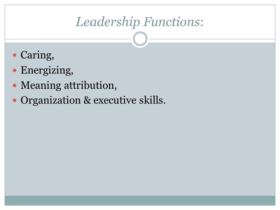 Leadership Functions: