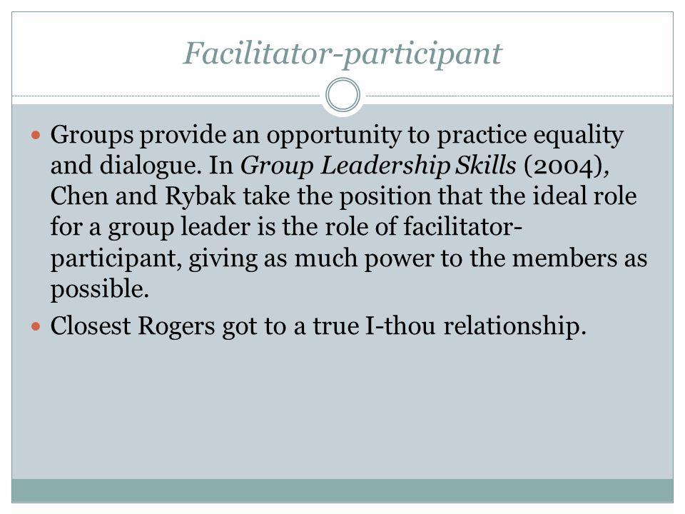 Facilitator-participant